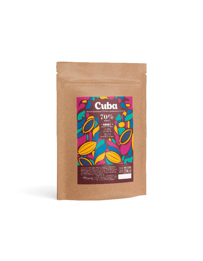 Темный шоколад 70% Cuba компании Cacao Barry в упаковке 0.2 кг