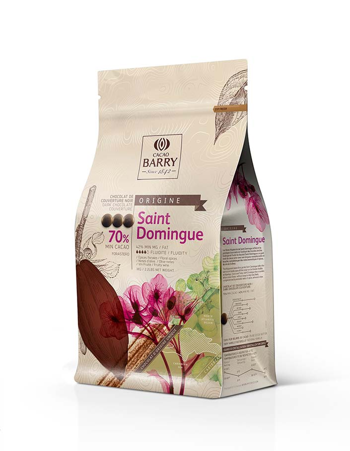 Темный шоколад 70% Saint-Domingue компании Cacao Barry