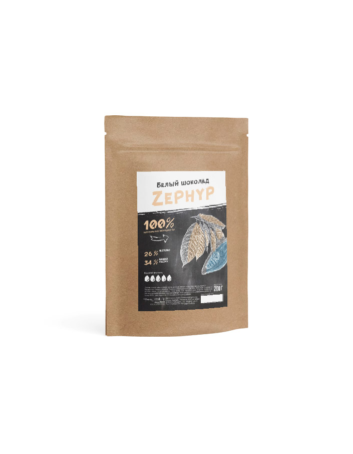 Белый шоколад  Zephyr  от Cacao Barry в упаковке 0.2 кг