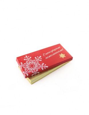 Шоколад с логотипом 100 г картонная упаковка