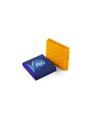 Цветной шоколад с логотипом 20 г квадратный