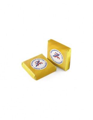 Шоколад с логотипом 20 г квадратный