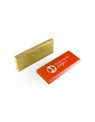 Шоколад с логотипом 60 г картонная упаковка
