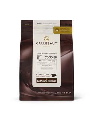Шоколад горький Callebaut Strong 70,5% (2,5 кг)