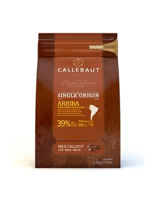 Шоколад молочный Callebaut Arriba 39% (2,5 кг)