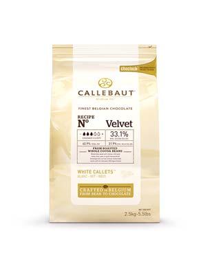 Шоколад белый Callebaut Velvet (2,5 кг)