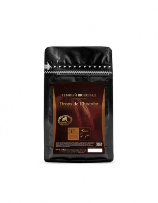 Шоколадные капли Chocolate Drops Cacao Barry (0,2 кг)