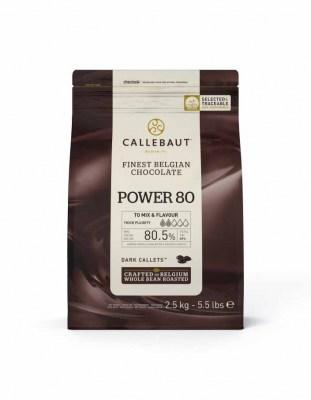 Шоколад горький Callebaut Power 80% (2,5 кг)