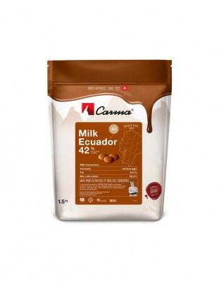 Шоколад молочный Carma Ecuador 42% (1,5 кг)