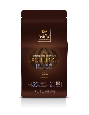 Темный кувертюр Excellence 55% Cacao Barry