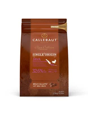 Шоколад молочный Callebaut Java 32,9%  (2,5 кг)
