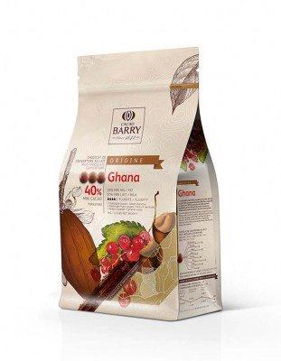Шоколад молочный Ghana 40% Barry (1 кг)