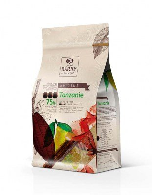Шоколад темный Tanzanie 75% Barry (1 кг)