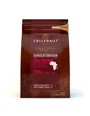 Шоколад темный Callebaut Sao Thome 70%  (2,5 кг)