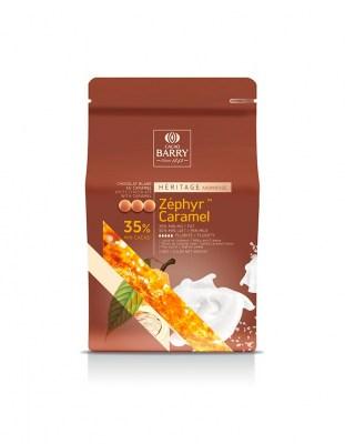 Шоколад белый Zephyr Caramel 35% (2,5 кг)