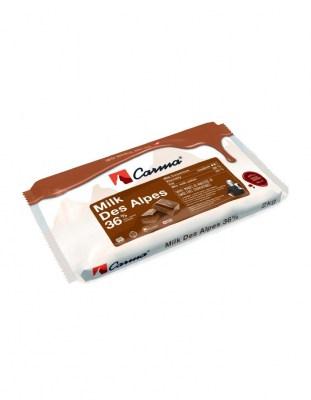 Шоколад молочный Carma Des Alpes 36% (2 кг)