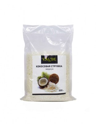 Кокосовая стружка 65% медиум Valde 0.5 кг