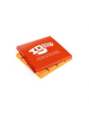 Цветной шоколад с логотипом 80 г