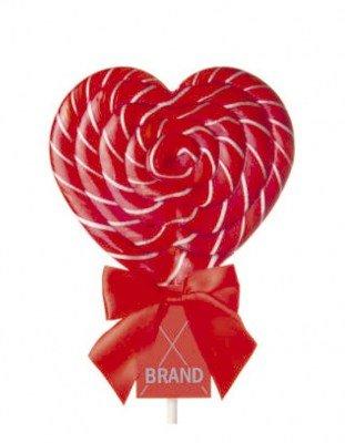 Леденец на палочке с логотипом Сердце 120 г