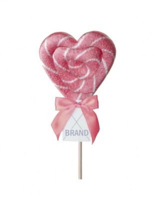 Леденец на палочке с логотипом Сердце 30 г