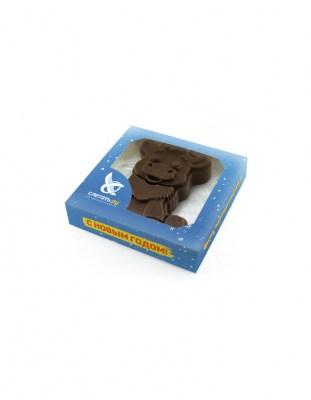 Шоколадный Бык 2D 90 г с логотипом (символ 2021 года)