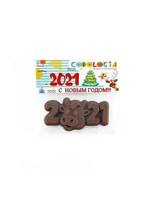 Шоколадный барельеф 2021 год 70 г с логотипом
