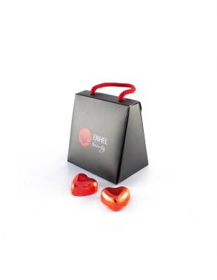 Шоколадная сумочка c сердечками