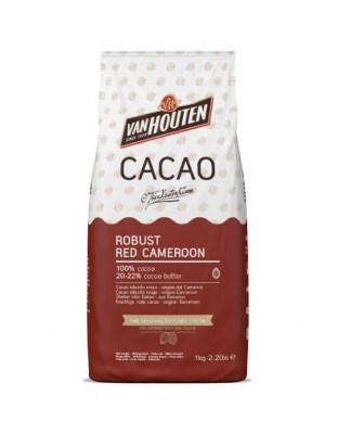 Какао порошок Van Houten красный 20-22%  (1 кг)